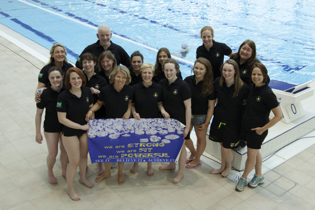 Diamonds Waterpolo Team Belfast at Bangor Competition